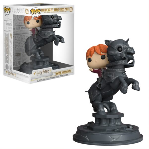 Funko PoP! Movie Moments Harry Potter 82 Ron Weasley Riding Chess Piece (Not mint) 1