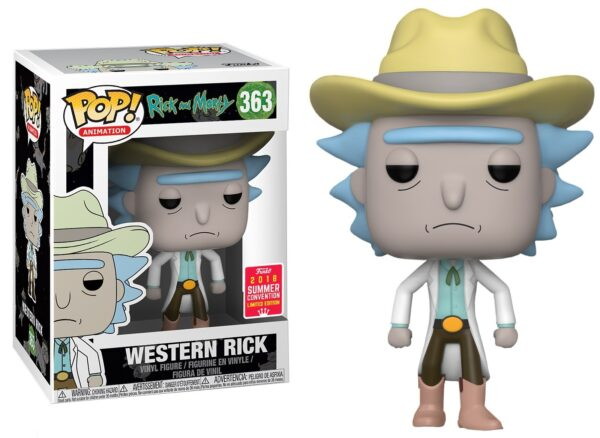 Funko PoP! Rick and Morty 363 WESTERN RICK SDCC 2018 1