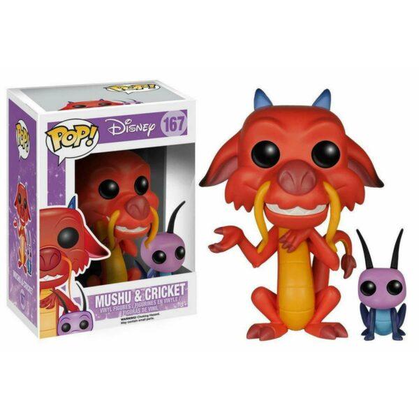 Funko Pop! Disney 167 Mushu & Cricket 1