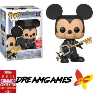 Figurine Pop Kingdom Hearts 334 Organization 13 Mickey Unhooded SDCC 2018 Summer Convention Limited Edition