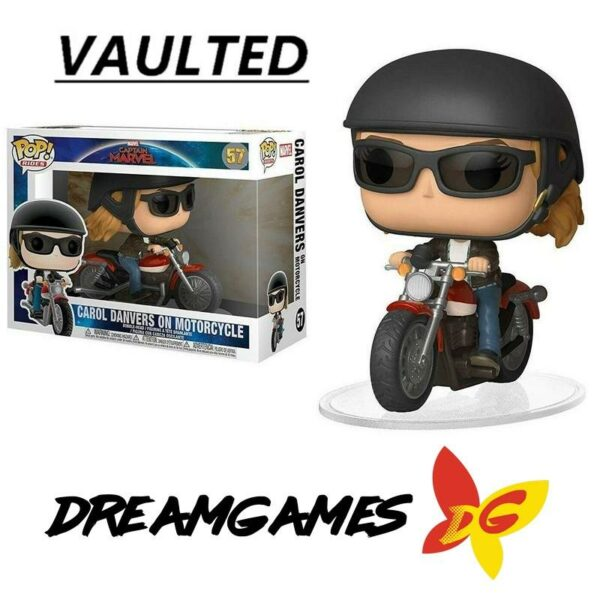 Figurine Pop Rides Captain Marvel 57 Carol Danvers on Motorcycle VAULTED