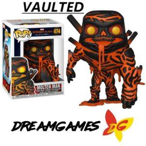 Figurine Pop Spider-Man Far From Home 474 Molten Man VAULTED