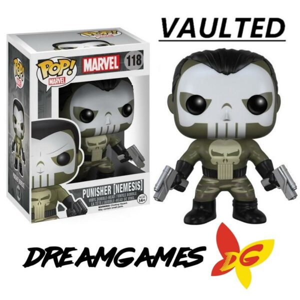 Figurine Pop Marvel 118 Punisher Nemesis VAULTED