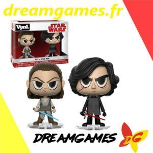 Figurines Vynl Star Wars Rey + Kylo Ren