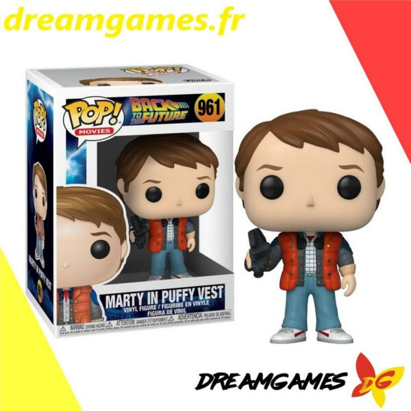Figurine Pop Back to the Future 961 Marty in puffy vest