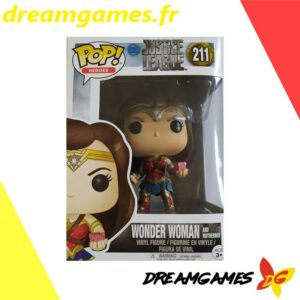 Figurine Pop Justice League 211 Wonder Woman and motherbox