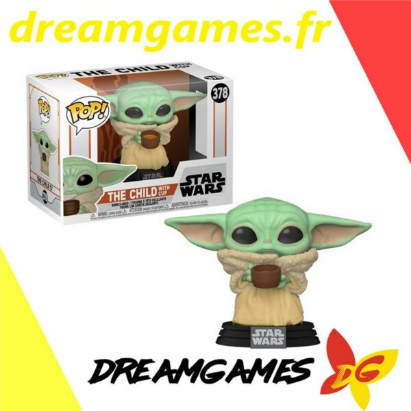 Figurine Pop Star Wars 378 The Child with cup