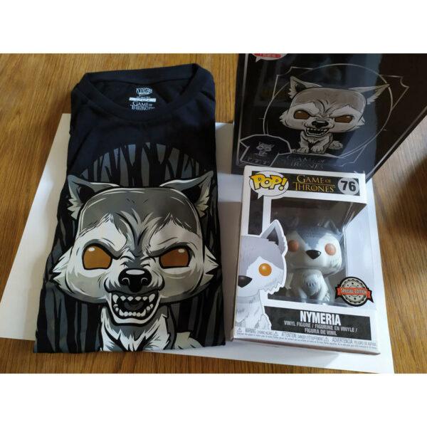 Figurine Pop Game of Thrones 76 Nymeria + tee-shirt L 1