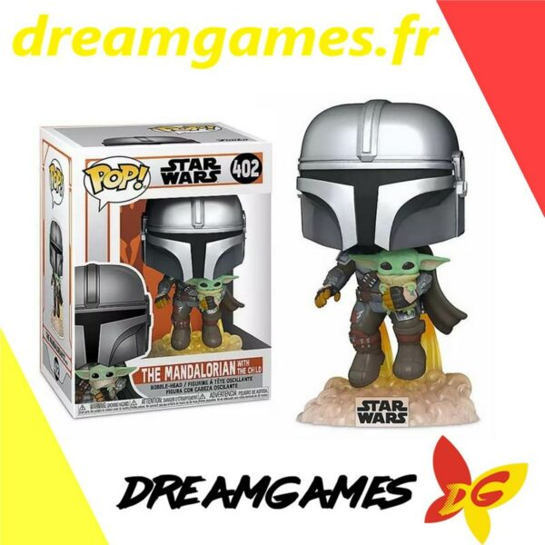 Figurine Pop The Mandalorian 402 with jet pack