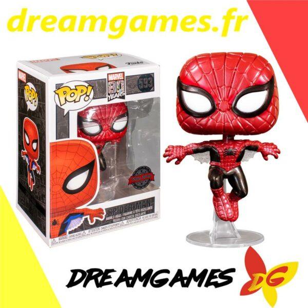 Figurine Pop Marvel 593 Spider-Man First Appearance Metallic 1