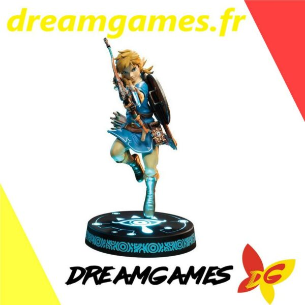 """F4F Zelda Breath of the Wild 10"""" PVC painted statue Link"""