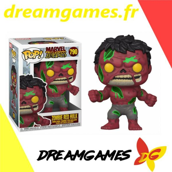 Figurine Pop Marvel Zombies 790 Zombie Red Hulk
