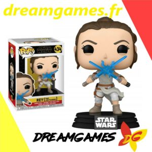 Figurine Pop Star Wars 434 Rey with two lightsabers