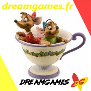 Figurine Disney Traditions Jaq and Gus in tea cup
