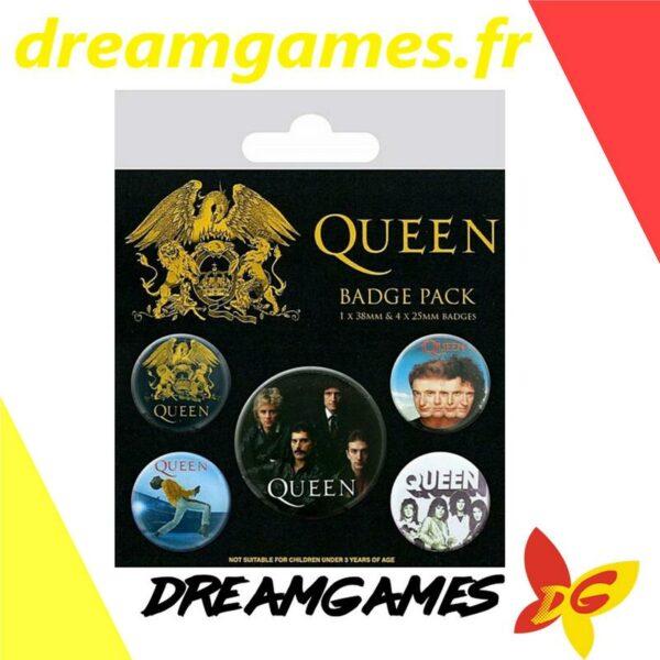 Queen Pack de 5 badges