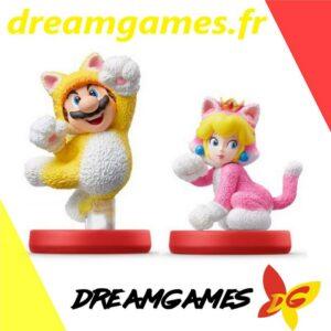 Amiibo Super Mario Cat Mario & Cat Peach