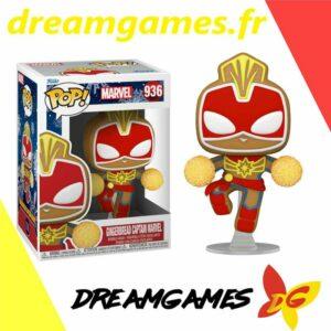 Figurine Pop Marvel Holiday 936 Gingerbread Captain Marvel